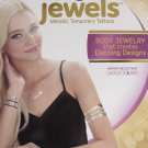 Lifestyle HOT JEWELS Box OF 4 SHEETS of METALLIC TEMPORARY TATTOOS Body Jewelry