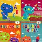 Kindergarten Educational Workbooks - Set of 4 Books - v2