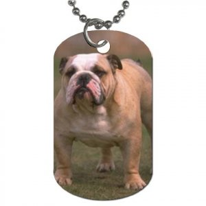 Bulldog  Bull Dog Dog Tag Necklace Chain - 12099475