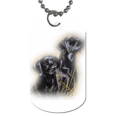 Black Lab Labrador Retriever Puppy Puppies Dog Tag Necklace Chain - 12099471