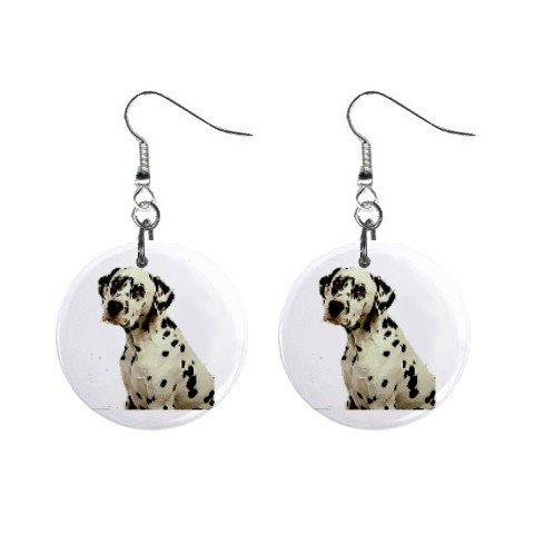 """Dalmatian 1"""" Button Earrings 12100109"""