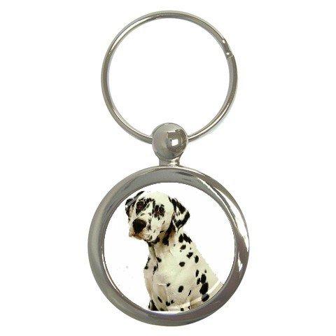 Dalmatian Key Chain Round 12100113
