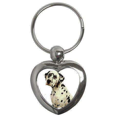 Dalmatian Key Chain Heart 12100115