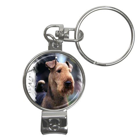 Airedale Terrier Nail Clippers Key Chain 12100165