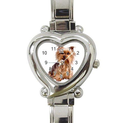 Yorkshire Terrier Yorkie Heart Italian Charm Watch 12099484
