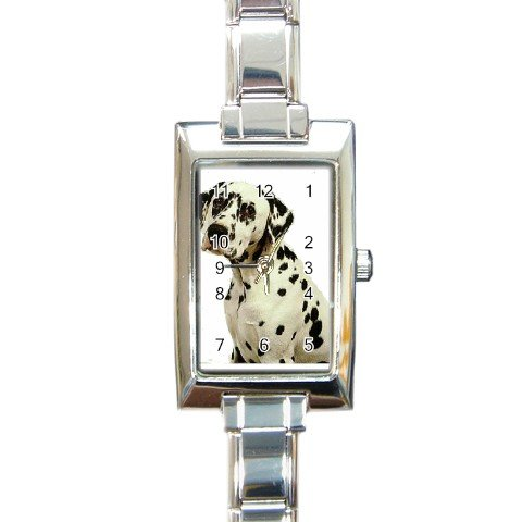 Dalmatian Rectangular Italian Charm Watch 12100106
