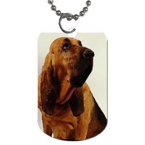 Bloodhound Dog Tag Necklace Chain - 12099482