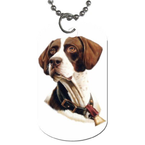 Pointer Dog Tag Necklace Chain - 12099470