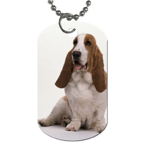 Basset Hound Dog Tag Necklace Chain - 12100045
