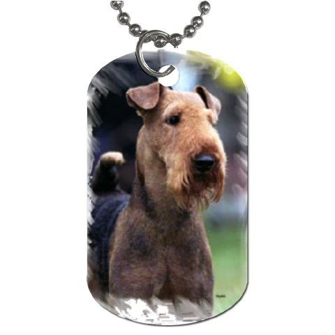 Airedale Terrier Dog Tag Necklace Chain - 12100166