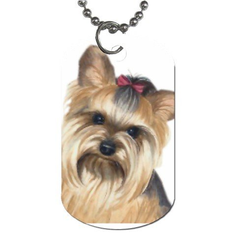 Yorkie  Yorkshire Terrier Dog Tag Necklace Chain - 12110959