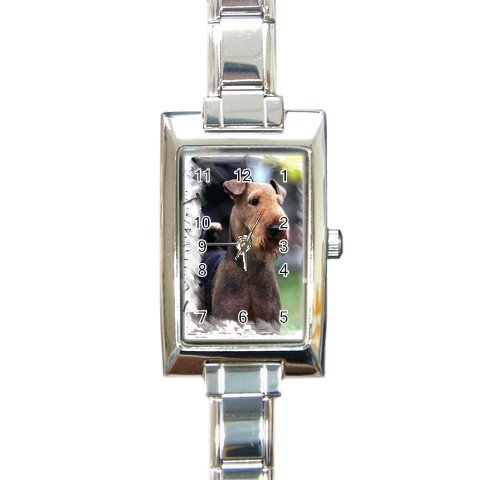 Airedale Terrier Rectangular Italian Charm Watch  12100155