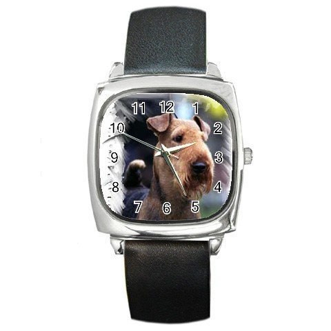 Airedale Terrier  Square Metal Watch UNISEX 12100167