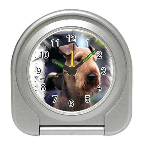 Airedale Terrier  Travel Alarm Clock 12100170