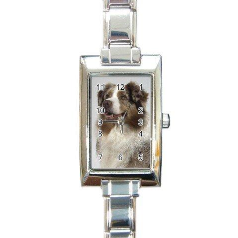 Australian Shepherd Rectangular Italian Charm Watch  12102622