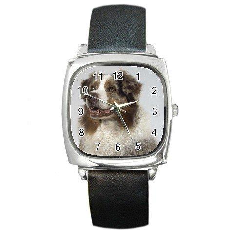 Australian Shepherd Dog  Square Metal Watch UNISEX 12102635