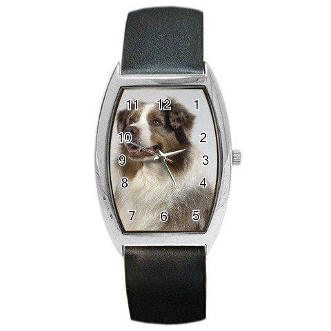 Australian Shepherd Dog  Barrel Style Metal Watch UNISEX 12102636