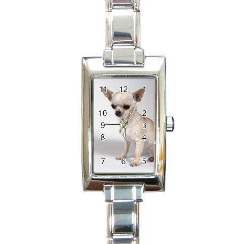 Chihuahua Dog Rectangular Italian Charm Watch 12102671