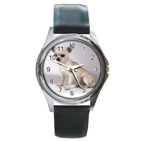 Chihuahua Dog Round Metal Watch UNISEX 12102673