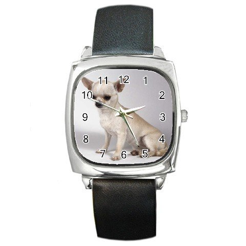 Chihuahua Dog Square Metal Watch UNISEX 12102684