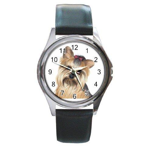 Yorkie Yorkshire Terrier Dog Round Metal Watch UNISEX 12110662