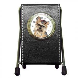 Yorkie Yorkshire Terrier Dog Pet Lover Pen Holder Desk Clock 12110675