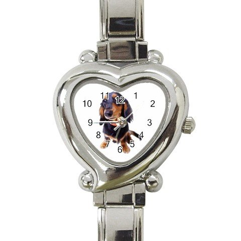 Dachshund Dog Heart Italian Charm Watch 12134435