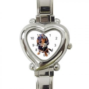 Dachshund Dog Heart Italian Charm Watch 12134435