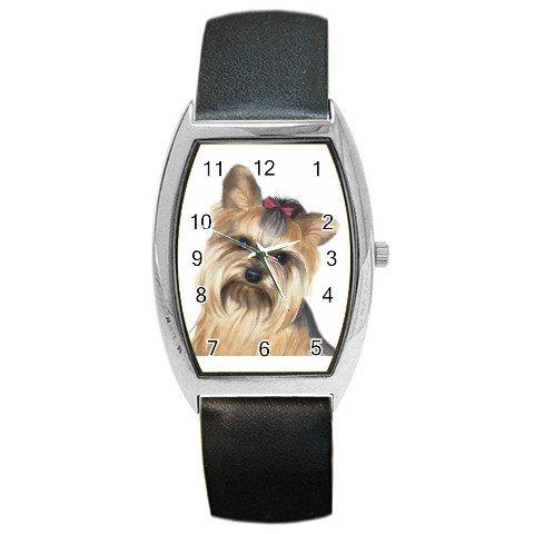 Yorkie Yorkshire Terrier Dog Barrel Style Metal Watch Unisex 12110672