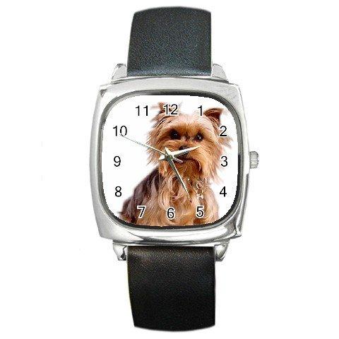 Yorkshire Terrier Yorkie Dog Pet Lover Square Metal Watch Unisex 12111028