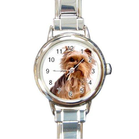 Yorkshire Terrier Yorkie Dog Round Italian Charm Watch 12111016