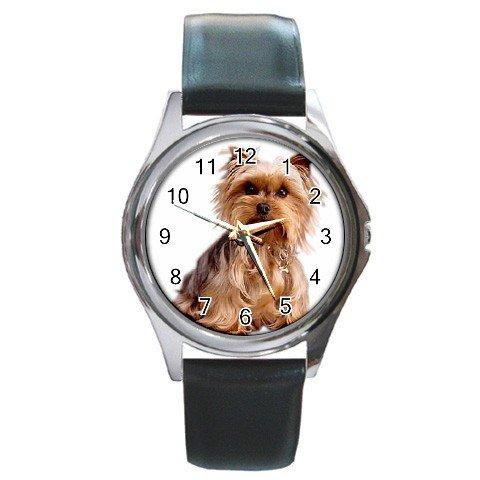 Yorkshire Terrier Yorkie Dog Round Metal Watch UNISEX  12111017