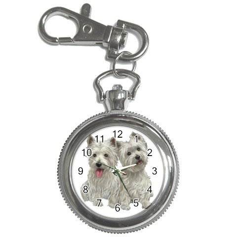 Westies - West Highland White Terriers - Dog Key Chain Watch 12111266