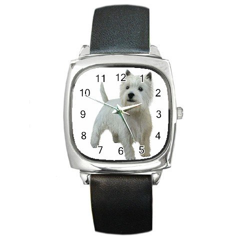 West Highland White Terriers - Westies - Dog Pet Lover Square Metal Watch Unisex 12111845