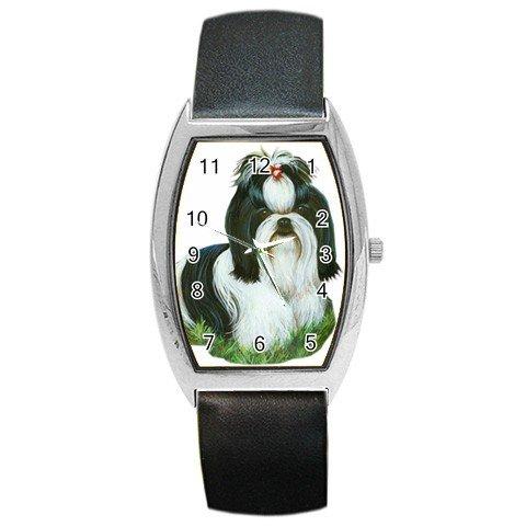Shih Tzu Dog Barrel Style Metal Watch Unisex 12111867
