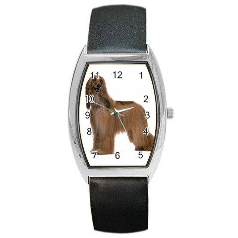 Afghan Hound Dog Barrel Style Metal Watch Unisex 12112196