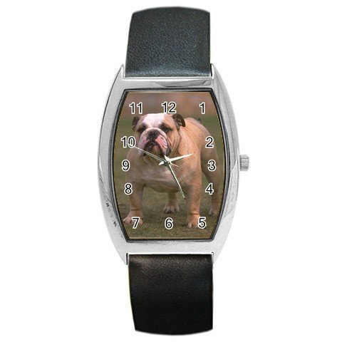 Bulldog Bull Dog Barrel Style Metal Watch Unisex 12124833