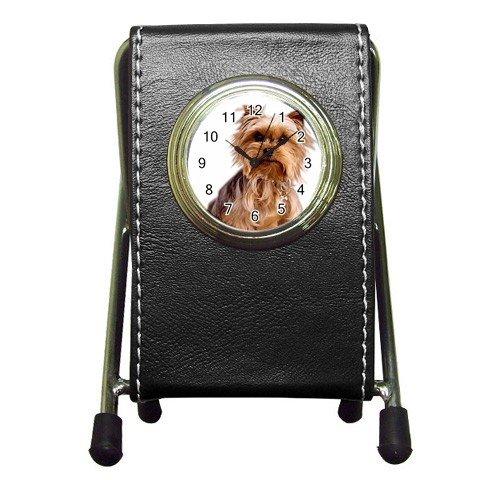 Yorkshire Terrier Yorkie Dog Pet Lover Pen Holder Desk Clock 12111033