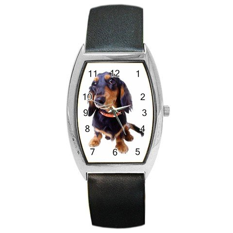 Dachshund Dog Barrel Style Metal Watch Unisex 12134434