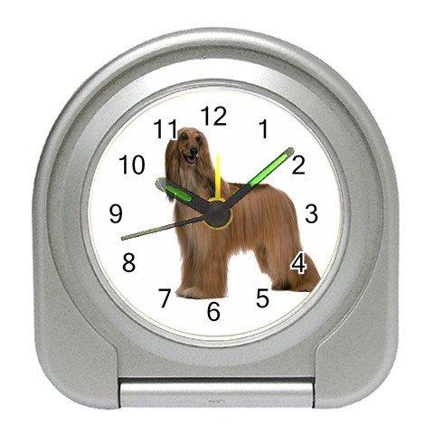 Afghan Hound  Dog Pet Lover Travel Alarm Clock 12112198