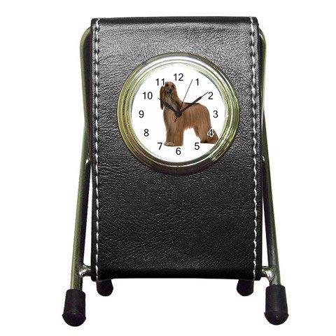 Afghan Hound Dog Pet Lover Pen Holder Desk Clock 12112200