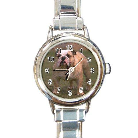 Bulldog Bull Dog Italian Charm Watch 12124821