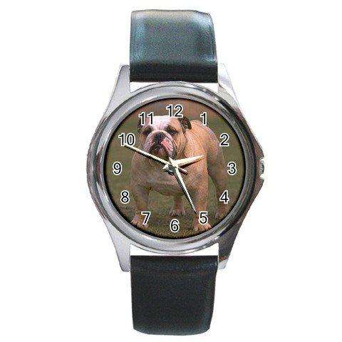 Bulldog Bull Dog Round Metal Watch UNISEX  12124822