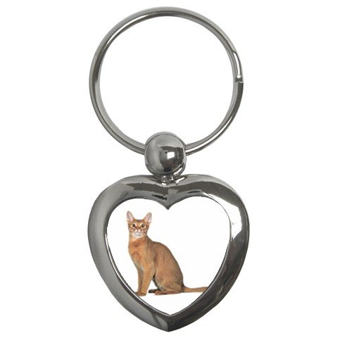 Abyssinian Cat Pet Lover Key Chain Heart 12168401