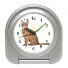 Abyssinian Cat Pet Lover Travel Alarm Clock 12168415