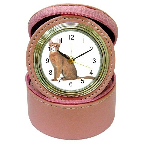 Abyssinian Cat Pet Lover Jewelry Case Clock Pink 12168416