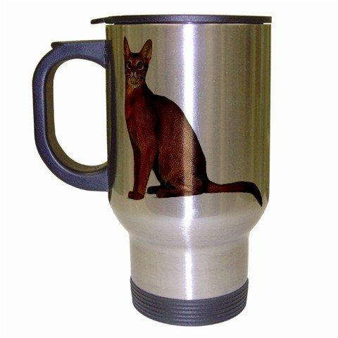 Abyssinian Cat Pet Lover  Coffee Travel Mug Silver Gray 12168422