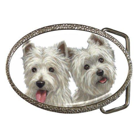 Westies - West Highland White Terriers - Dog Belt Buckle Pet Lover 12111265