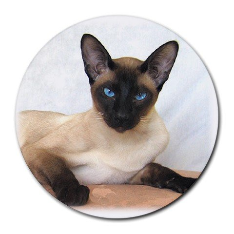 Siamese Cat Pet Lover  Round Mousepad 12203166