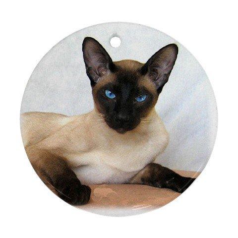 Siamese Cat Pet Lover Ornament Round 12203167